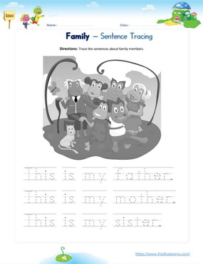 family sentence tracing