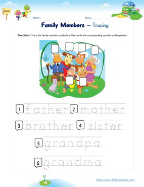 family word tracing