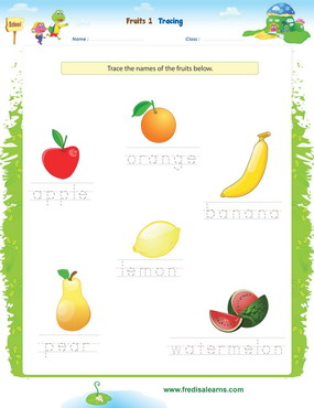 fruits tracing1