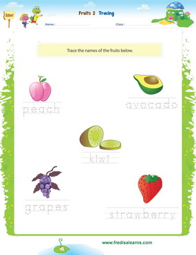 fruits tracing2