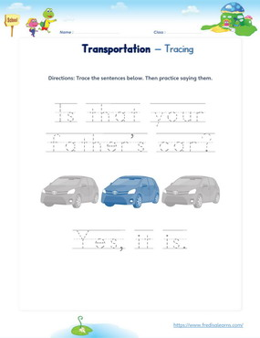 transportation sentence tracing